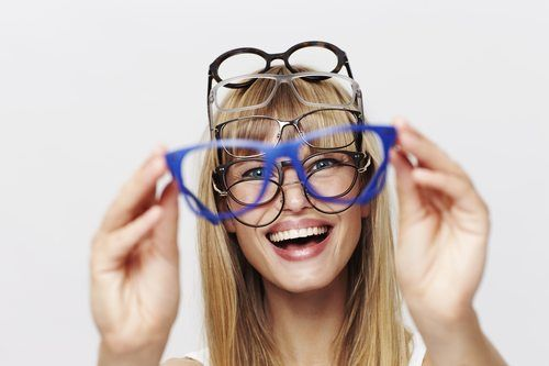 Fun young student in glasses, portrait