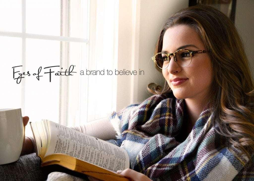 Eyes of Faith, young woman wearing glasses and reading